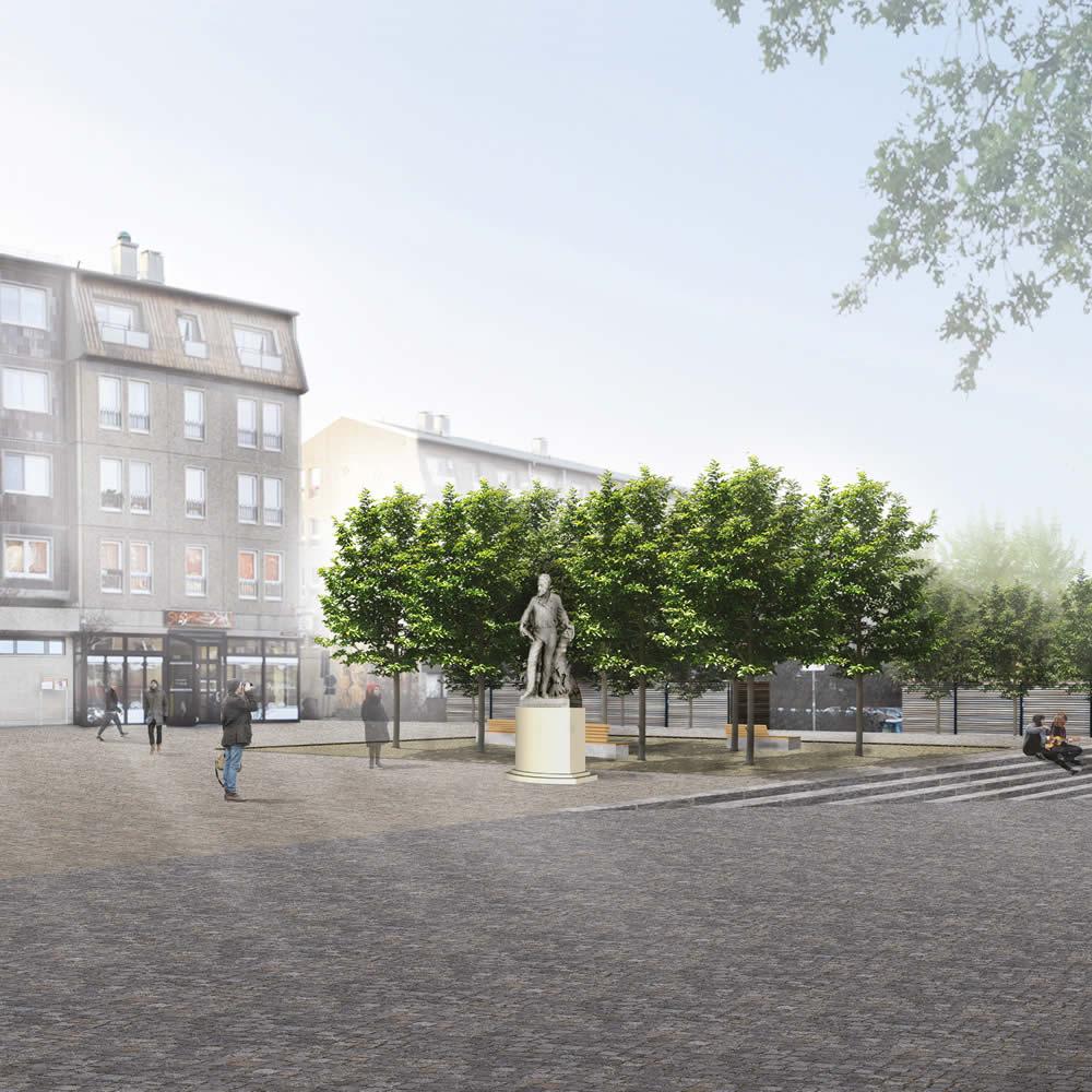 Neugestaltung Oberkirchplatz Cottbus