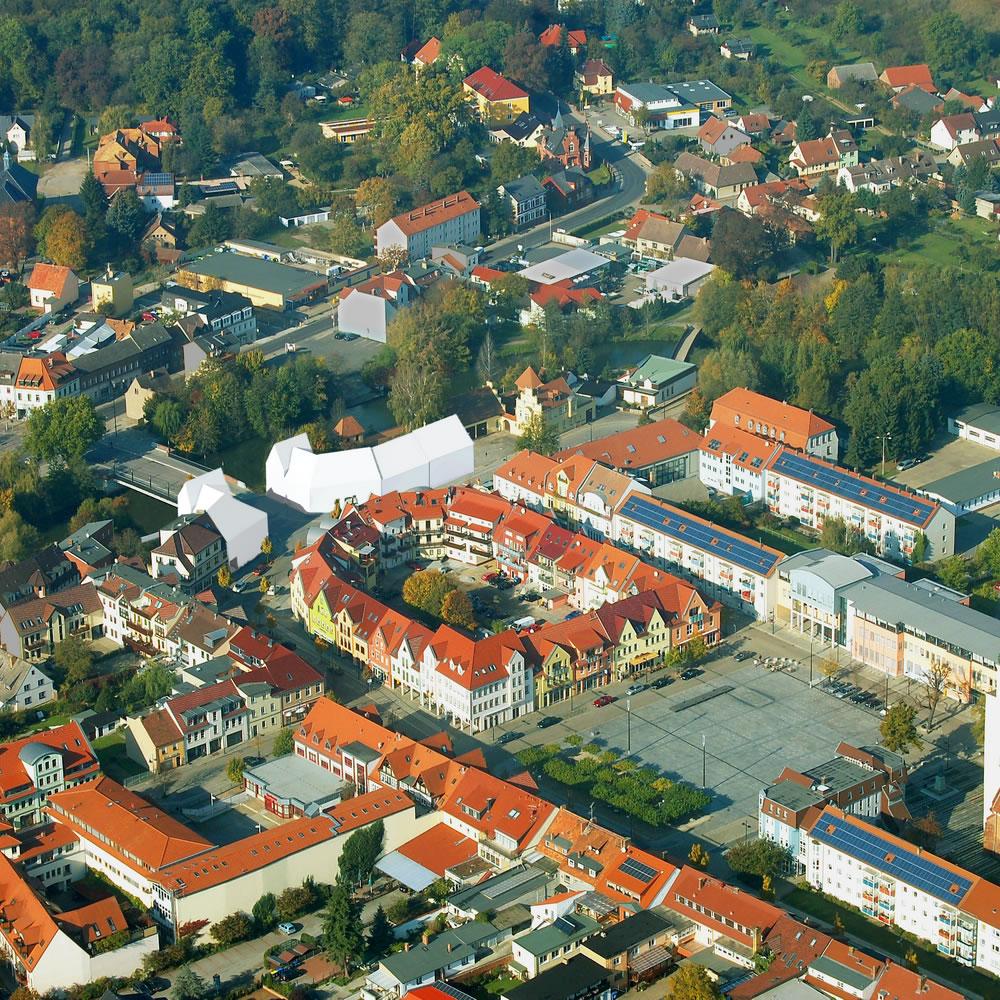 Bebauungskonzept Brückenplatz Lübben / Spreewald